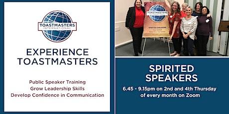 Spirited Speakers Toastmasters Meeting tickets