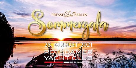 Presseball Berlin Sommergala 2021 - im Potsdamer Yachtclub Wannsee Tickets