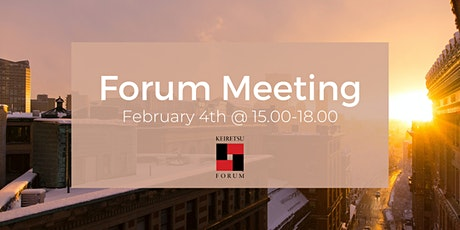 Forum Meeting - February 4th tickets
