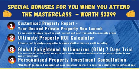 **[FREE Physical Property Investing MASTERCLASS by Dr Patrick Liew!]** tickets