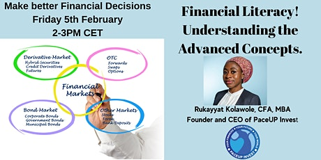 Financial Literacy! Understanding the Advanced Concepts. tickets
