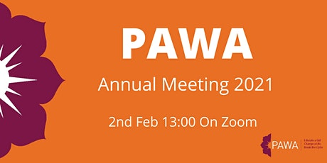 PAWA Annual Meeting 2021 tickets