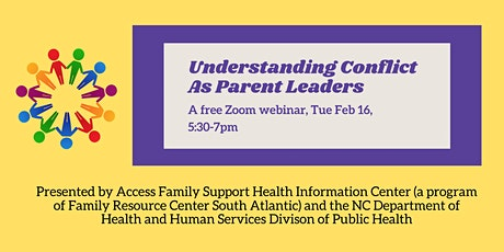 Understanding Conflict as Parent Leaders: A Free Webinar tickets
