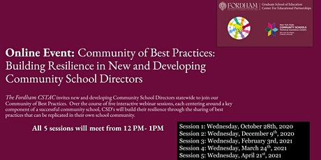 Community of Best Practices: Building Resilience in New and Developing CSDs tickets