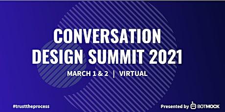 Conversation Design Summit 2021 tickets