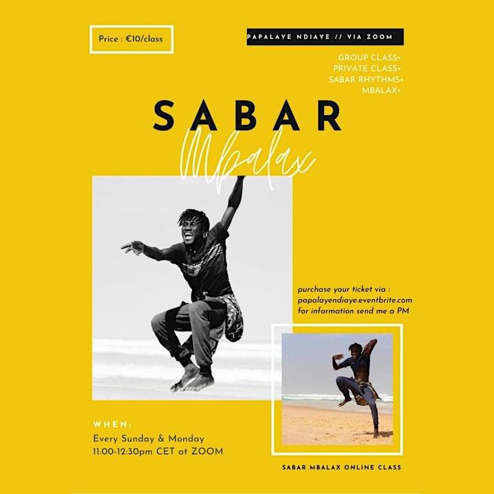 Sabar Mbalax Group Class - Sunday image