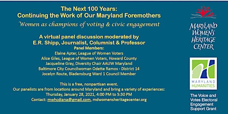 The Next 100 Years: Continuing the Work of Our Maryland Foremothers tickets