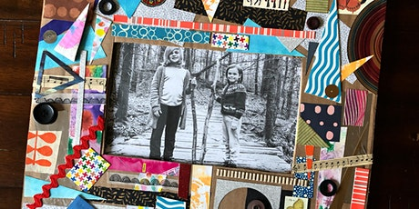 Cardboard Collage Picture Frames tickets