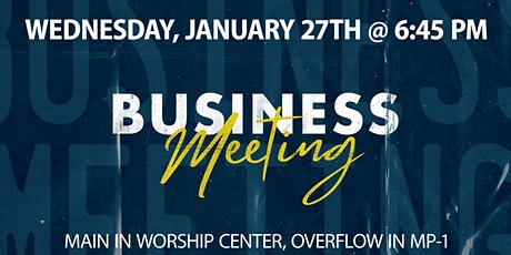 SMRBC January Church Business Meeting (For Members) tickets