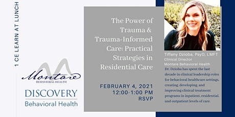 The Power of Trauma & Trauma-Informed Care: Practical Strategies in Reside tickets