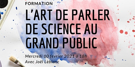 Formation ACS / L'art de parler de science au grand public billets