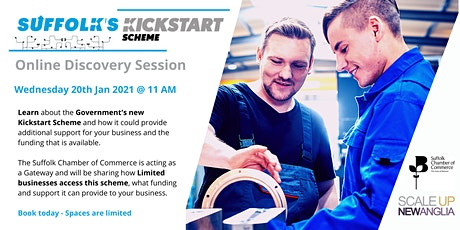 Discover Session for Kickstart Scheme with Suffolk Chamber of Commerce tickets