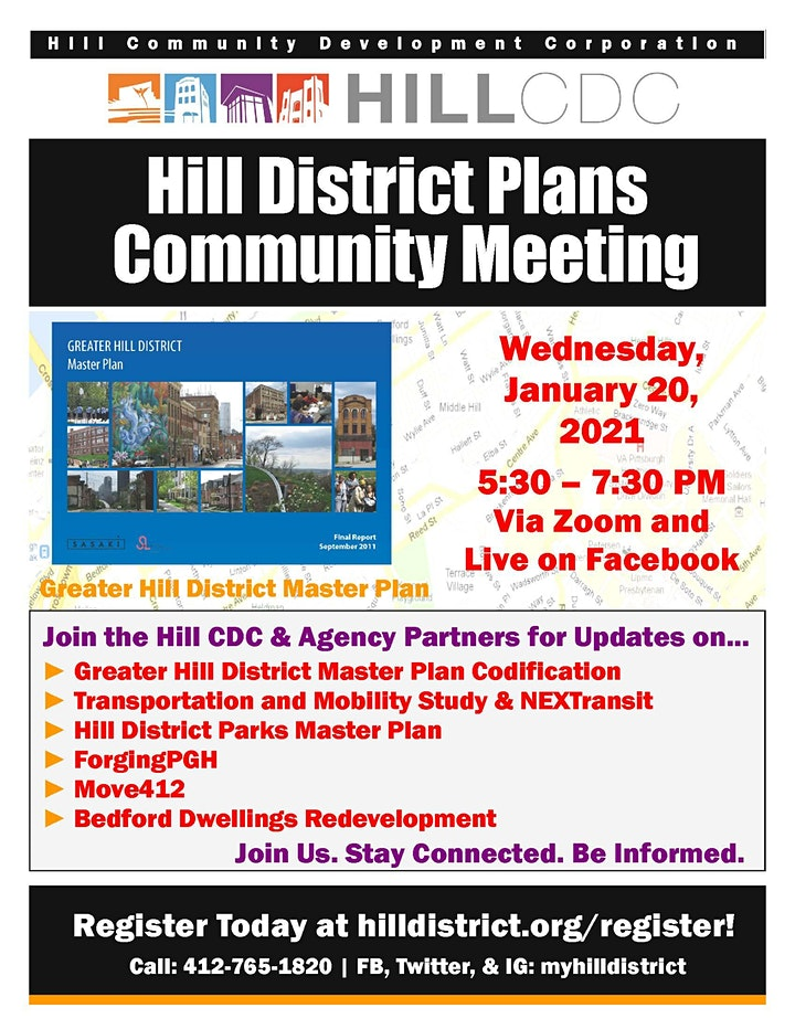 January 2021 Bi-Monthly Hill District Plans Community Meeting image
