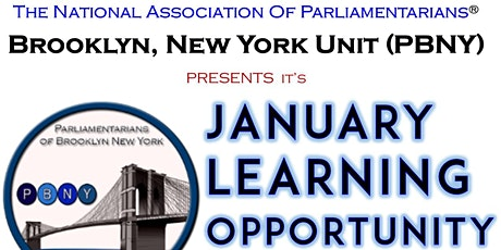 Parliamentarians Of Brooklyn, New York Learning Opportunity & Unit Meeting tickets