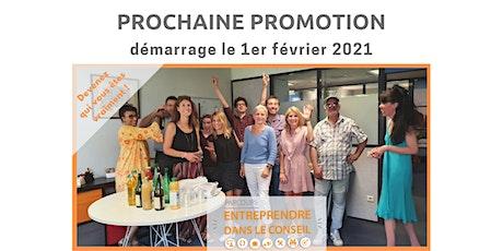 "WEBINAR d'informations : Formation Online ""Entreprendre Dans Le Conseil"" billets"