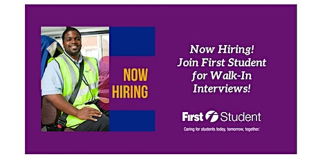 Join First Student Elk Grove Village for Walk-In Interviews! tickets