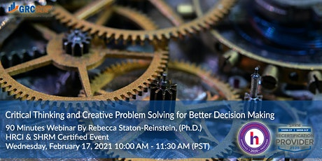 Critical Thinking and Creative Problem Solving for Better Decision Making tickets
