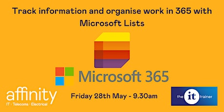 Track information and organise work in 365 with Microsoft Lists tickets