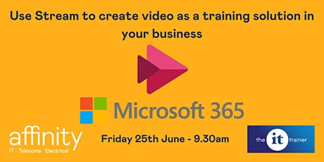Use Stream to create video as a training solution in your business tickets