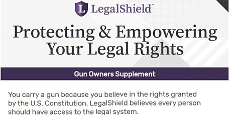 Legal Use of Force Gun Law Workshop tickets