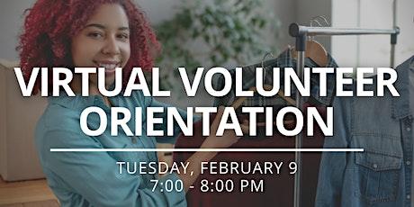 Virtual Volunteer Orientation - February 2021 tickets