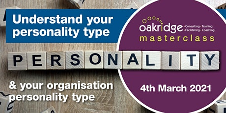 Understand  Your Personality Type & Your Organisations Personality Type tickets