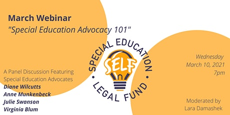 Special Education Advocacy 101 tickets