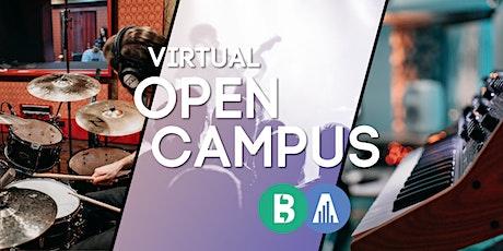 Virtual Open Campus Week: #Audio Engineering Tickets