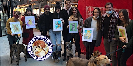 Paint and Sip  Pet Portrait Fun- Barking Dog New York tickets