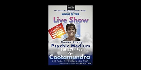 Psychic Medium Donna Young - Cootamundra tickets