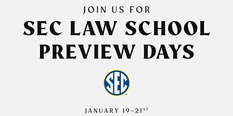 SEC Law School Preview Days tickets