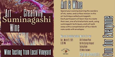 Art Class Suminagashi and Wine Tasting tickets