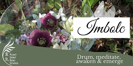 Imbolc Ceremony with plants, candle and drum tickets