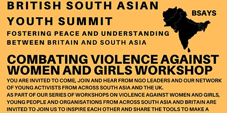 British South Asian Youth Summit (BSAYS) - VAWG Workshop tickets