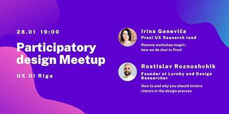 Participatory Design MeetUp | UX UI Riga Meetup tickets