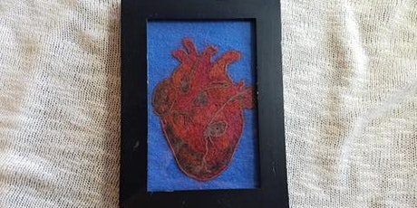 Needle Felted Anatomical Heart Felt tickets