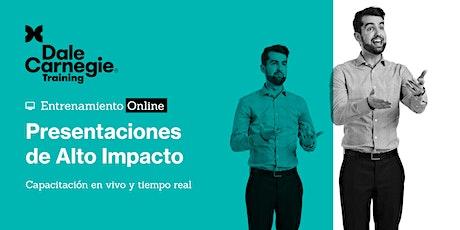 Presentaciones de Alto Impacto. Online en vivo. boletos