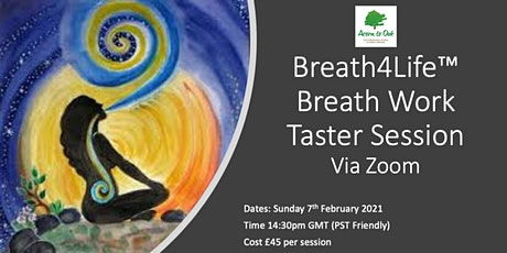 Breath Work Taster Session via Zoom (PST Friendly) tickets