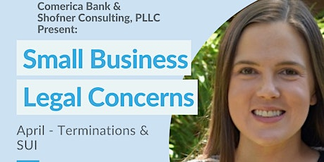 Comerica Bank & Shofner Consulting Small Business Legal  Terminations & SUI tickets