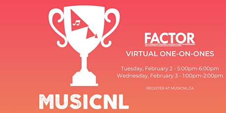 FACTOR @ MusicNL Week 2021: 1-on-1 Meetings (February 2) tickets