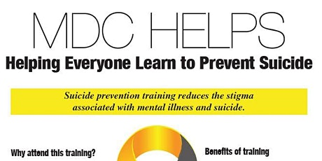 MDC HELPS - Suicide Prevention Training via Q.P.R. tickets