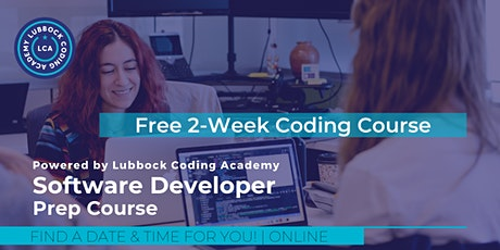Free 2-Week Software Developer Virtual Prep Course - Lubbock Coding Academy tickets