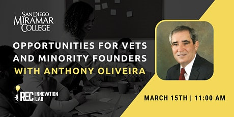 Opportunities for Veterans and Minority Founders with Anthony Oliveira tickets