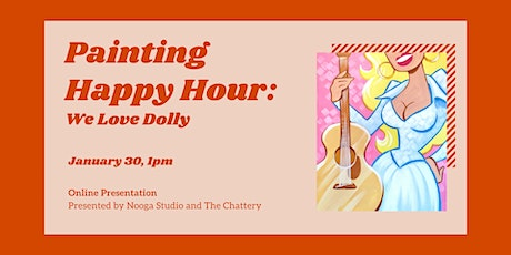 Painting Happy Hour: We Love Dolly - ONLINE CLASS + SUPPLIES tickets