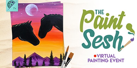 "Online Painting Class – ""Spirit Riders"" (Virtual Painting at Home) tickets"