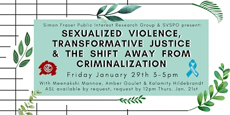 Sexualized Violence and Transformative Justice tickets