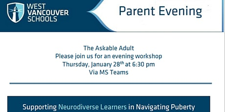 The Askable Adult - Parent Workshop with SHIFT Education & WVSD tickets