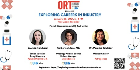 ORT at UHN Webinar: Exploring Careers in Industry tickets