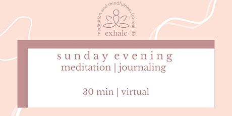 exhale: sunday night meditation tickets