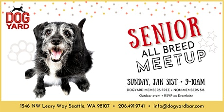 Senior Dog All Breed Meetup at the Dog Yard in Ballard tickets